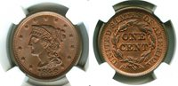 1846 Large Cent MS66RB NGC