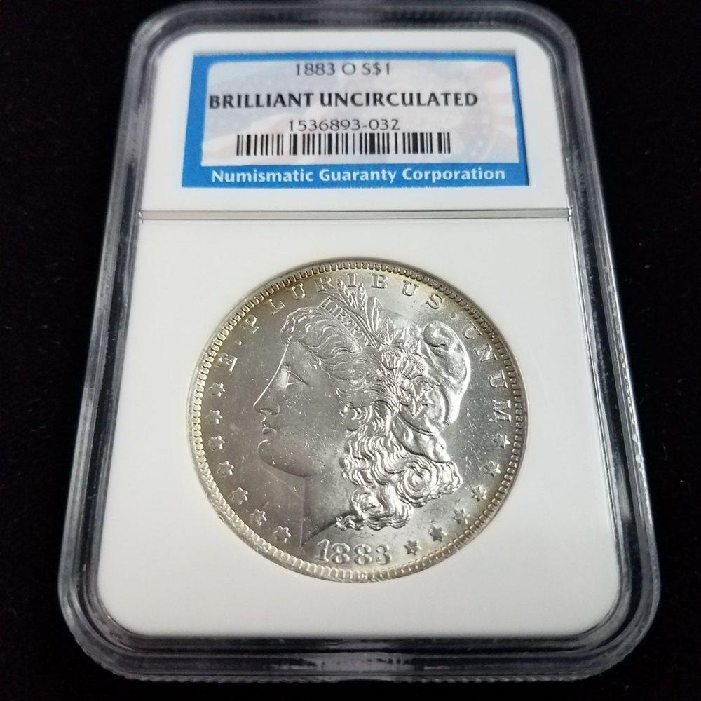 1883 P Morgan Silver Dollar $1 Brilliant Uncirculated