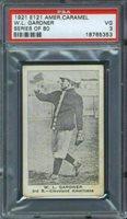 1921 E121 American Caramel W.L. Gardner PSA 3 Cleveland Indians