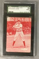 1913 GAME CARD LAJOIE NAP NAPOLEON RED PARKER BROTHERS HOF BASEBALL SGC 8 NM/MT