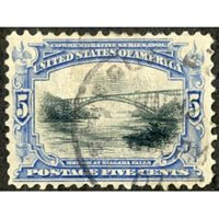 US 297 Early Commemoratives VF Used Nibbed Perfs
