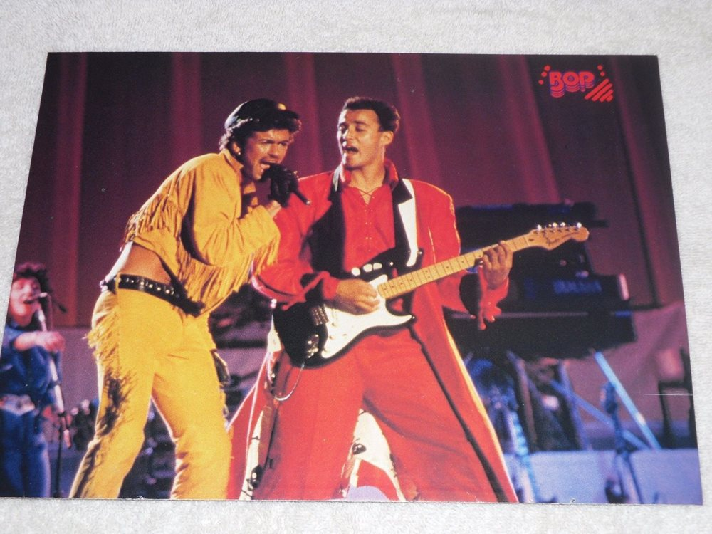 232eae2b02 George Michael WHAM Era with KEVIN BACON Full Color Pin