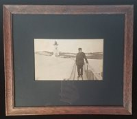 Late 19th Century Ipswich, MA Lighthouse Photo, Captain Benjamin Ellsworth
