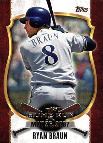 2015 Topps First Home Run Baseball Card Fhr 26 Ryan Braun Nm Mt