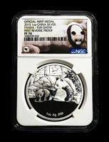2015 China Panda Silver Coin Fun Show First Reverse Proof NGC PF70