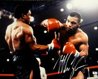 Mike Tyson Hand Signed Autographed 16X20 Photo Punching Boxing GA GV731024