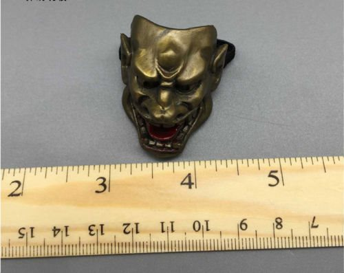 "1:6 Scale 12/"" Male//Female Action Figure Accessory Golden Cow Face Mask Model Toy"