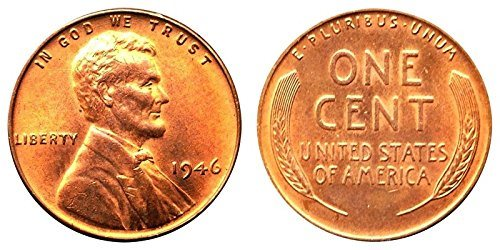1945D Lincoln Cent Roll 50 coins Wheat