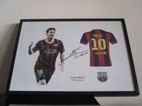 Lionel Messi FC Barcelona signed - Jersey - Soccer - FCB - RP autograph