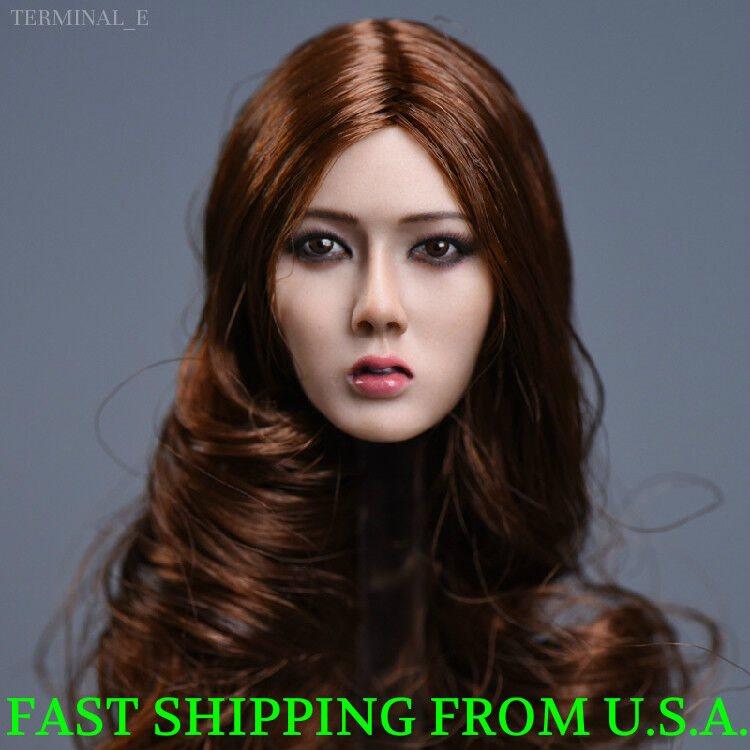 1//6 Asian Female Head Sculpt Short Hair For HotToys PHICEN TBLeague Figure ❶USA❶