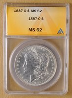 1887 O Morgan Silver Dollar ANACS MS 62