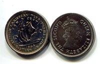 "British Caribbean Territories 10 Cent 1965 New (CU)Other Caribbean Islands Currency Queen Elizabeth II; shipCoin 3/4\"" Diameter"