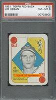 1951 Topps Red Back 12 Jim Hegan PSA 8 - $65.00