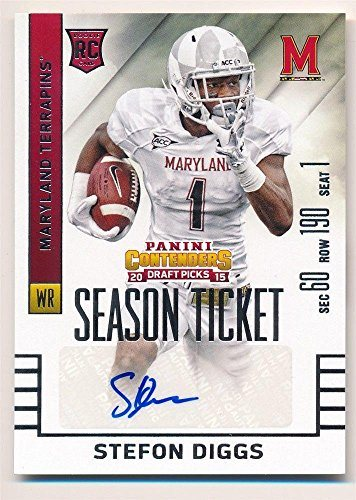 outlet store 07666 db39f Stefon Diggs 2015 Panini Contenders Rc Rookie Ticket Autograph Sp Auto Mint  - Panini Certified - Football Slabbed Autographed Rookie Cards