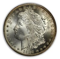 1884-CC $1 Morgan Dollar PCGS MS65 (CAC)