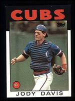 Signed Davis Jody Chicago Cubs 1986 Topps Baseball C
