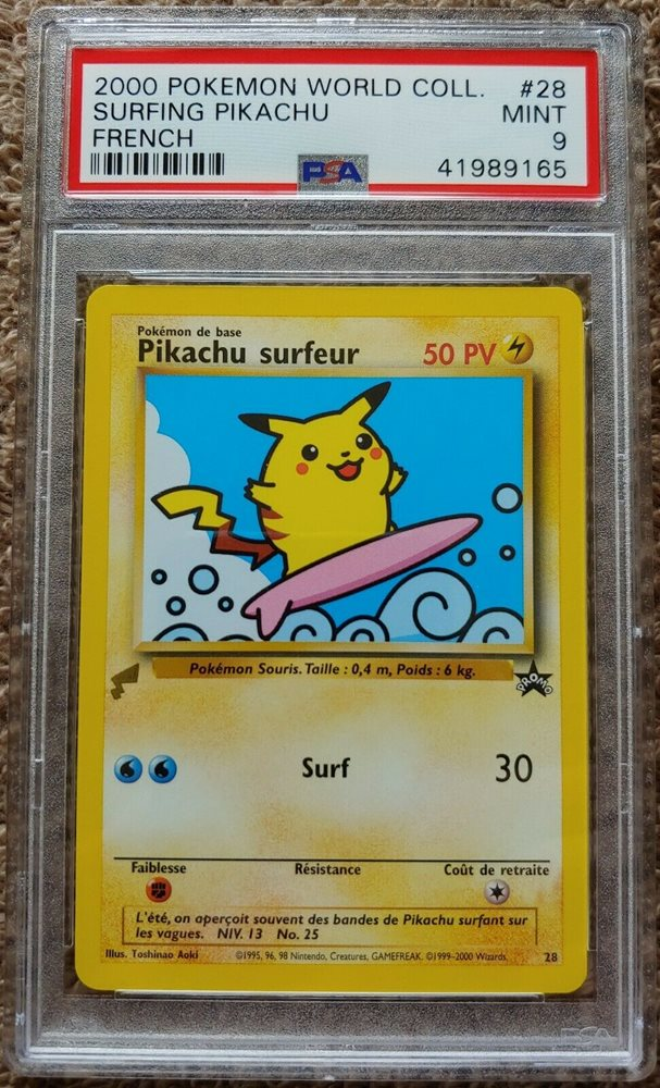 Surfing Pikachu #28 Black Star Promo WOTC Pokemon Card NM+