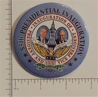 55th Presidential Inauguration – President and Vice President Campaign Button