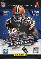 2012 Panini Absolute NFL Football Factory Sealed 20 Box CASE! Look for Rookies and Autograph of all the Amazing 2012 NFL Draft including Andrew Luck,Russell Wilson,Robert Griffen and Many More !