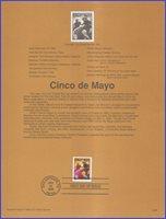 USA2 #3203 U/A SOUVENIR PAGE FDC Cinco de Mayo