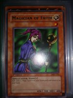 Rare YuGiOh Magician of Faith Unlimited Edition Moderately Played MRD-036