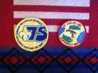 1985 Candian Jamboree District Patch and 1982 District Patch