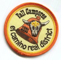 ⚜ Scouts BSA Orange County Council OCC patch El Camino Real COR 1991 bell skull