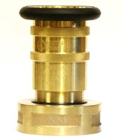 """NNI 2-1/2"""" NST NH Fire Hose Brass Adjustable Fog Nozzle UL Listed 100Psi"""