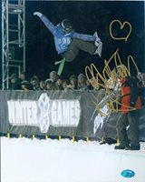 Gretchen Bleiler autographed 8x10 photo (Snow Boarding X Games Champion) Image No.2