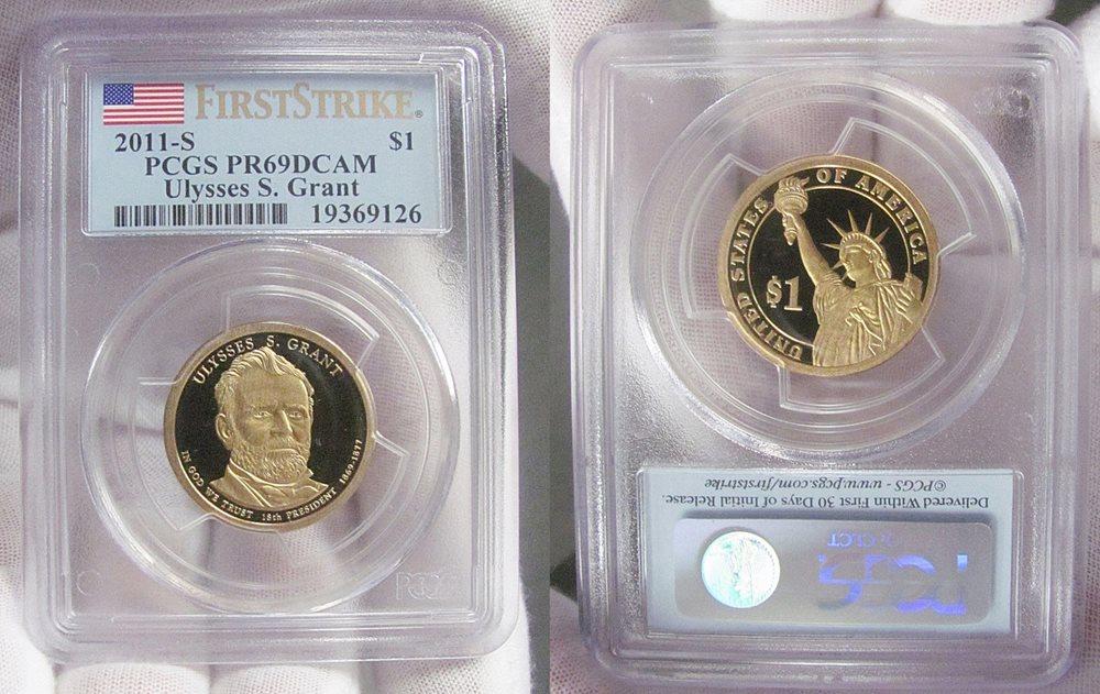 2009-S PRESIDENTIAL DOLLARS SET MULTI-HOLDER PCGS PR69DCAM