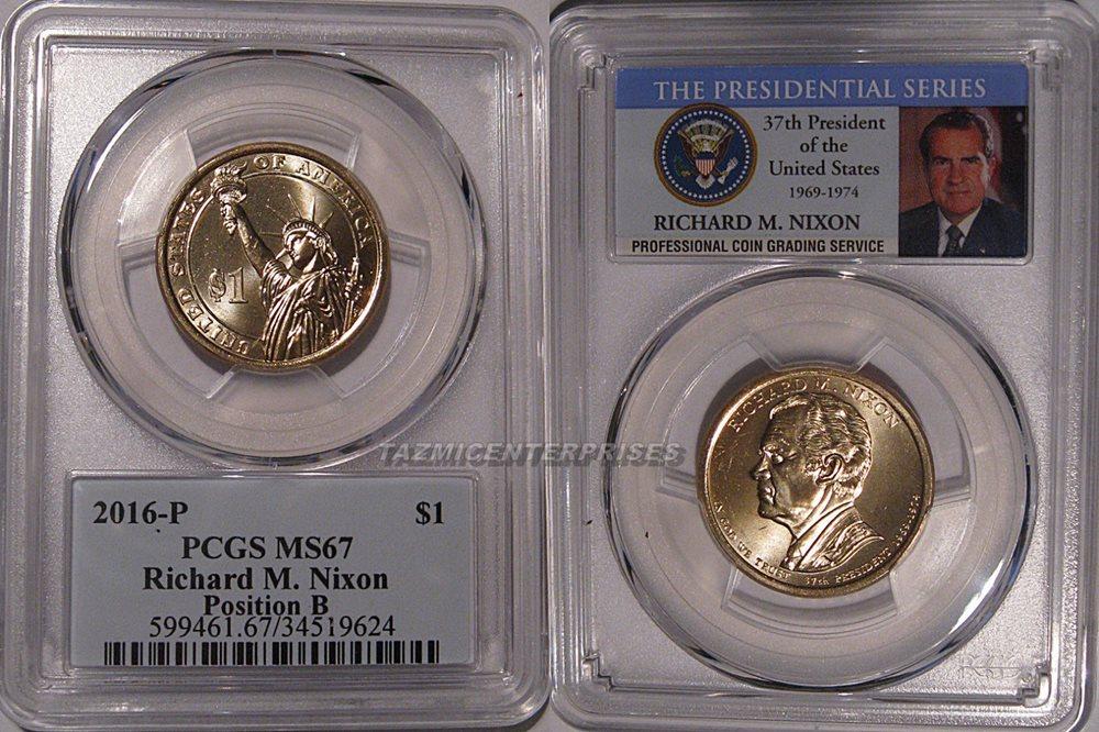 2016-P Richard M Nixon $1 Presidential Golden Dollar Coin