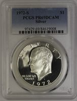 1972-S Eisenhower Dollar PCGS PR69DCAM PCGS