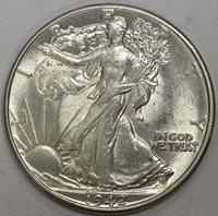 1942 (P) Walking Half Dollar