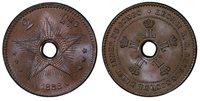 CONGO FREE STATE. Leopold II. 1888 CU 2 Centimes. PCGS MS66BN KM 2.