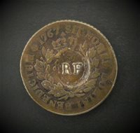 Coin Guadeloupe - 3 under / below 9 Deniers (1/4 Escalin) 1767 Paris - Type 1793