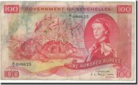 100 Rupees Seychelles Banknote, 1968-01-01, Km:18a