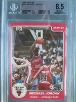 Michael Jordan Bgs 85 1984 85 Star 101 Rookie Card Wi