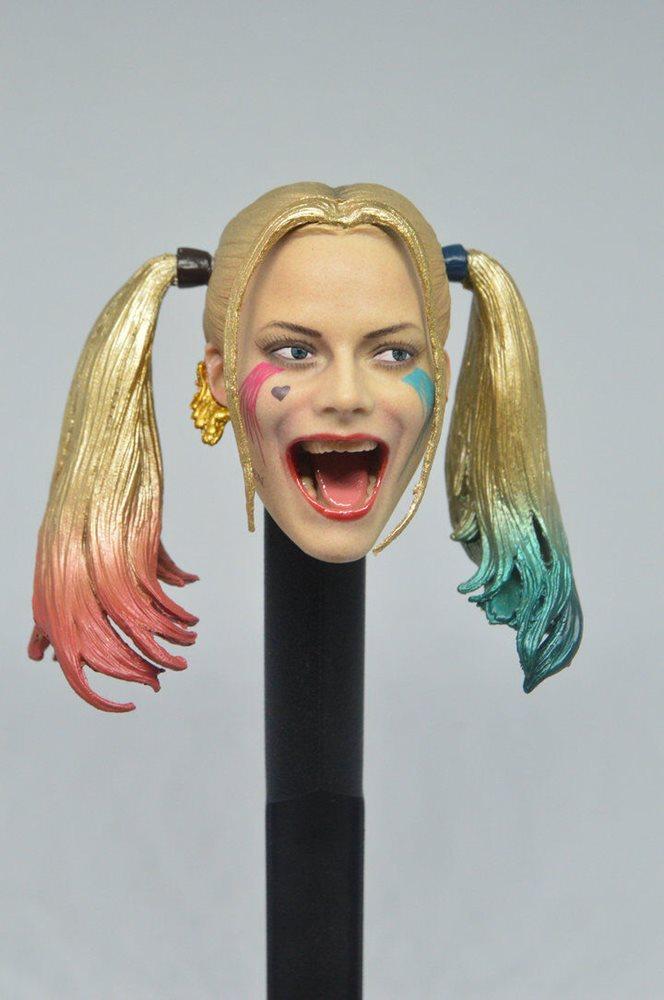 """1//6 Harley Quinn Head Sculpt Suicide Squad For 12/"""" TBLeague PHICEN Figure U.S.A."""