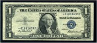 $1 1935F Priest-Anderson F1615. ***STAR*** note. Choice Uncirculated. The scarcer *-G block.