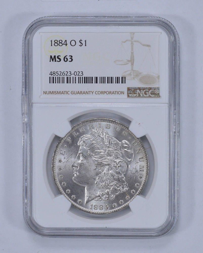 1884-O MS64+ PLUS NGC Morgan Silver Dollar