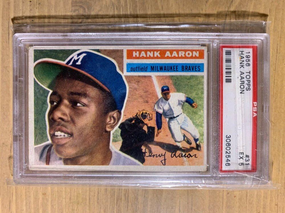 EX Vintage 1956 Topps #31 Hank Aaron