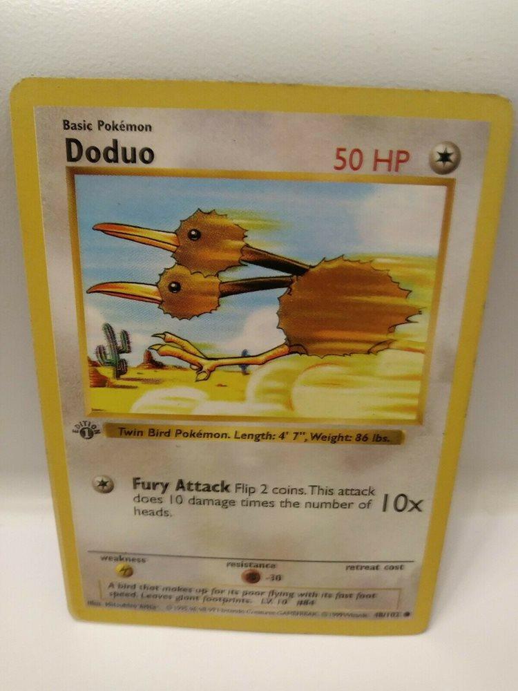 PSA 9 MINT Doduo 48//102 1ST EDITION Base Set SHADOWLESS Pokemon Card