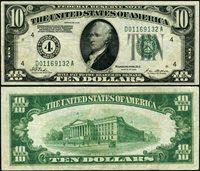 FR. 2000 D $10 1928 Federal Reserve Note Cleveland D-A Block VF