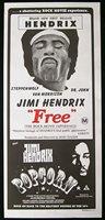 JIMI HENDRIX FREE & POPCORN Rare daybill Movie poster