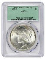 1926-S $1 Peace Dollar PCGS MS65+