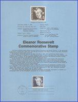 USA7 #2105 U/A SOUVENIR PAGE FDC Eleanor Roosevelt