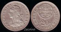 SAINT THOMAS & PRINCE - 1 Coin of 20 Centavos . 1929 - AU