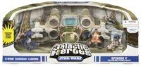 Star Wars Clone Wars Action Figure Galactic Heroes Cinema Scene Wave 2: X-Wing Vehicle With Degobah Deco