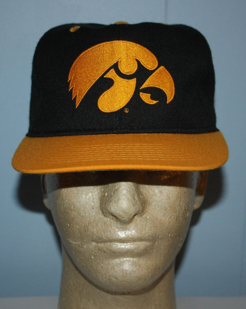huge discount 7693a c19fe Vintage  1 Apparel Iowa Hawkeyes Fitted Hat Cap 7. Click To Enlarge