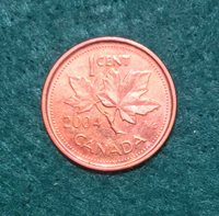 2004P Canada 1cent Penny. Circulated. Ships From Canada